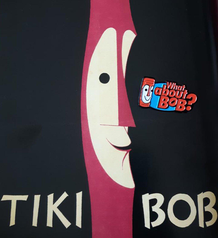 """WHAT ABOUT BOB? 1.75"""" Tiki Bob Soft Enamel Pin!"""