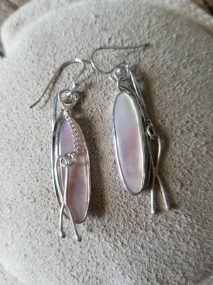 Mother of Pearl Dangly Earrings