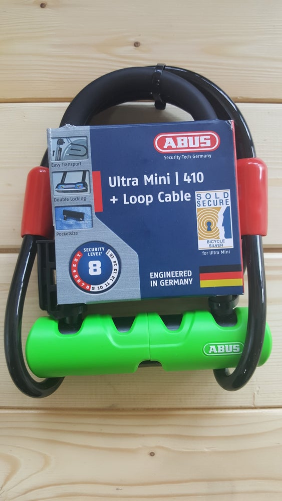 "Image of Abus Ultra 410 U-Lock - 3.9 x 5.5"" Includes Cobra cable"