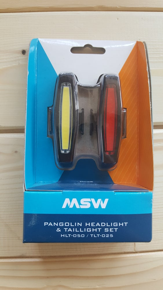 Image of MSW Pangolin Front and Rear USB Headlight and Taillight Set