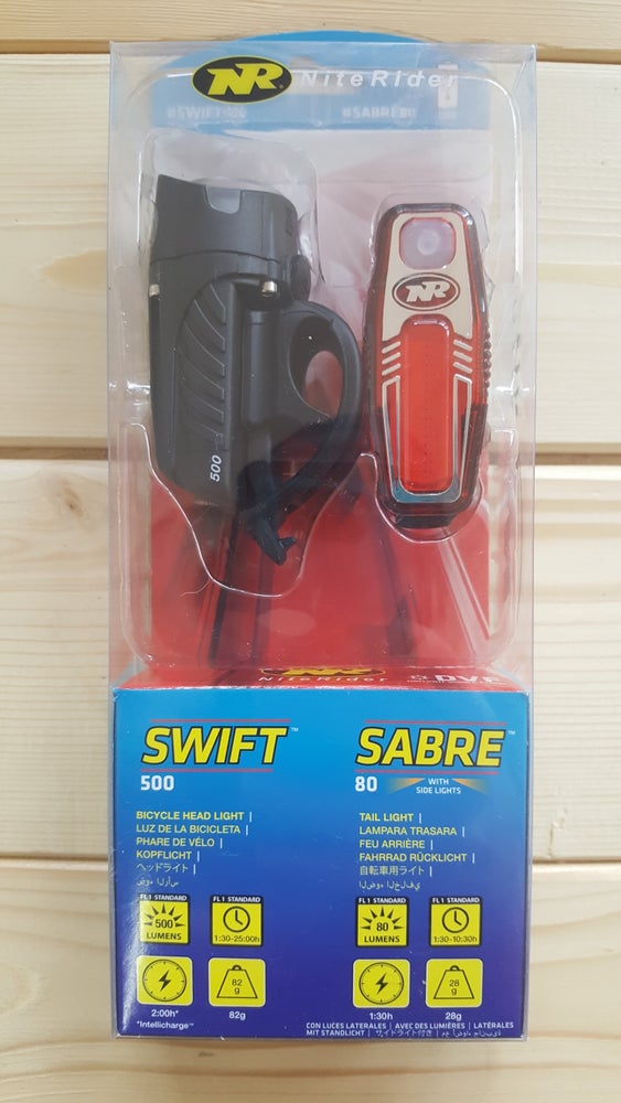 Image of NiteRider Swift 500 and Sabre 80 Headlight and Taillight Set