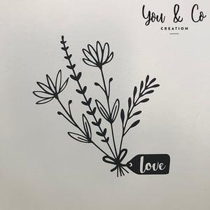 "Image of Sticker ""bouquet LOVE"""