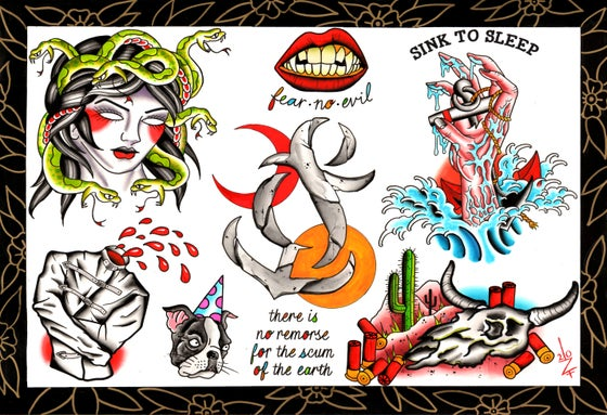 Image of Tattoo Flash Sheet by Zane DiProjetto
