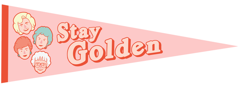 Image of Golden Girls Pennant