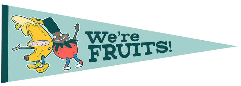 Image of We're Fruits Pennant