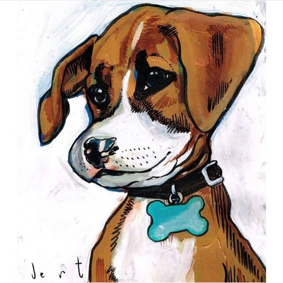 Image of 11x14 CUSTOM PET PAINTING ON PAPER -from photos