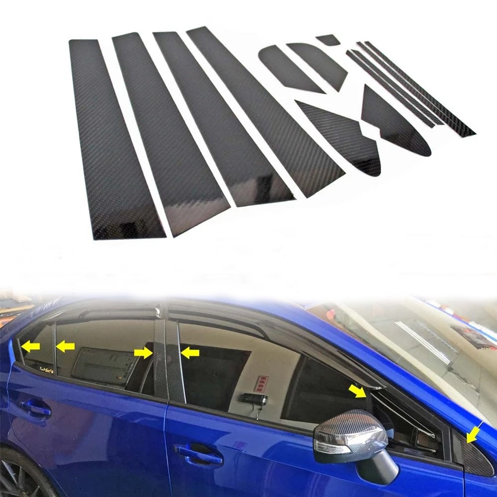 Image of Carbon Fiber Pillars/Window Trims