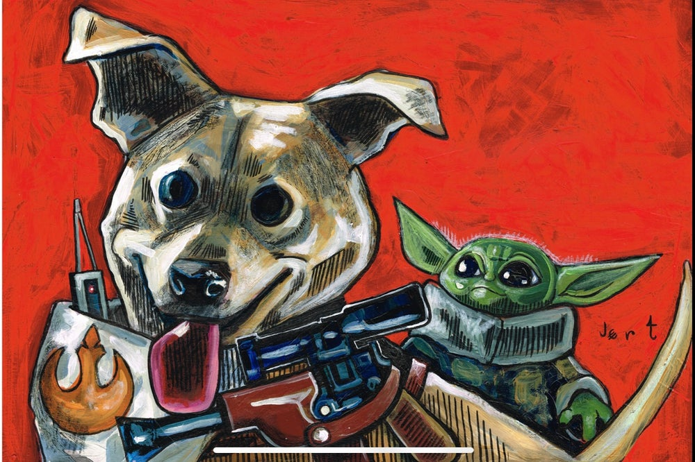 Image of 16x20 CUSTOM PET PAINTING ON CANVAS- from photos