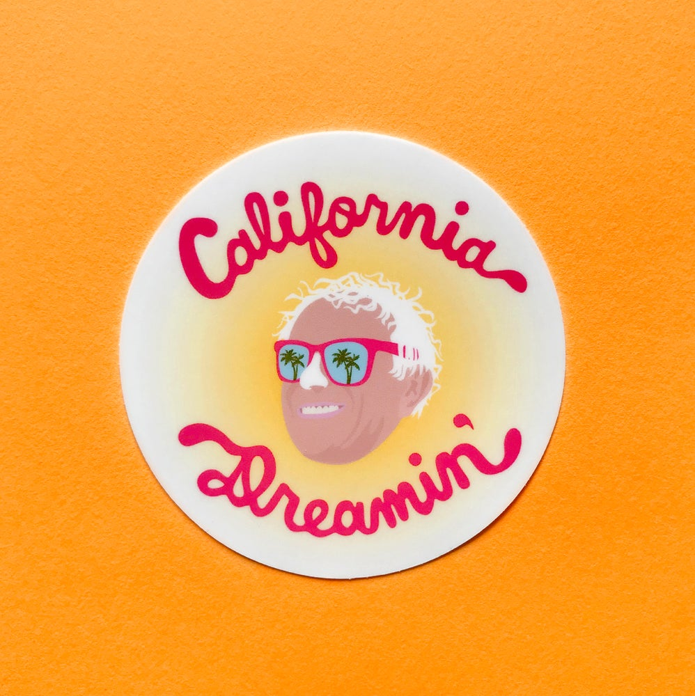 Image of California Dreamin' Bernie Sticker