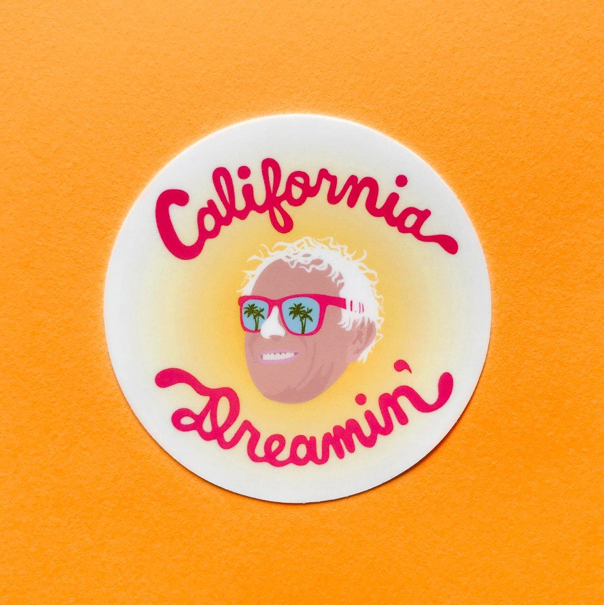 Image of California Dreamin' Bernie Sticker