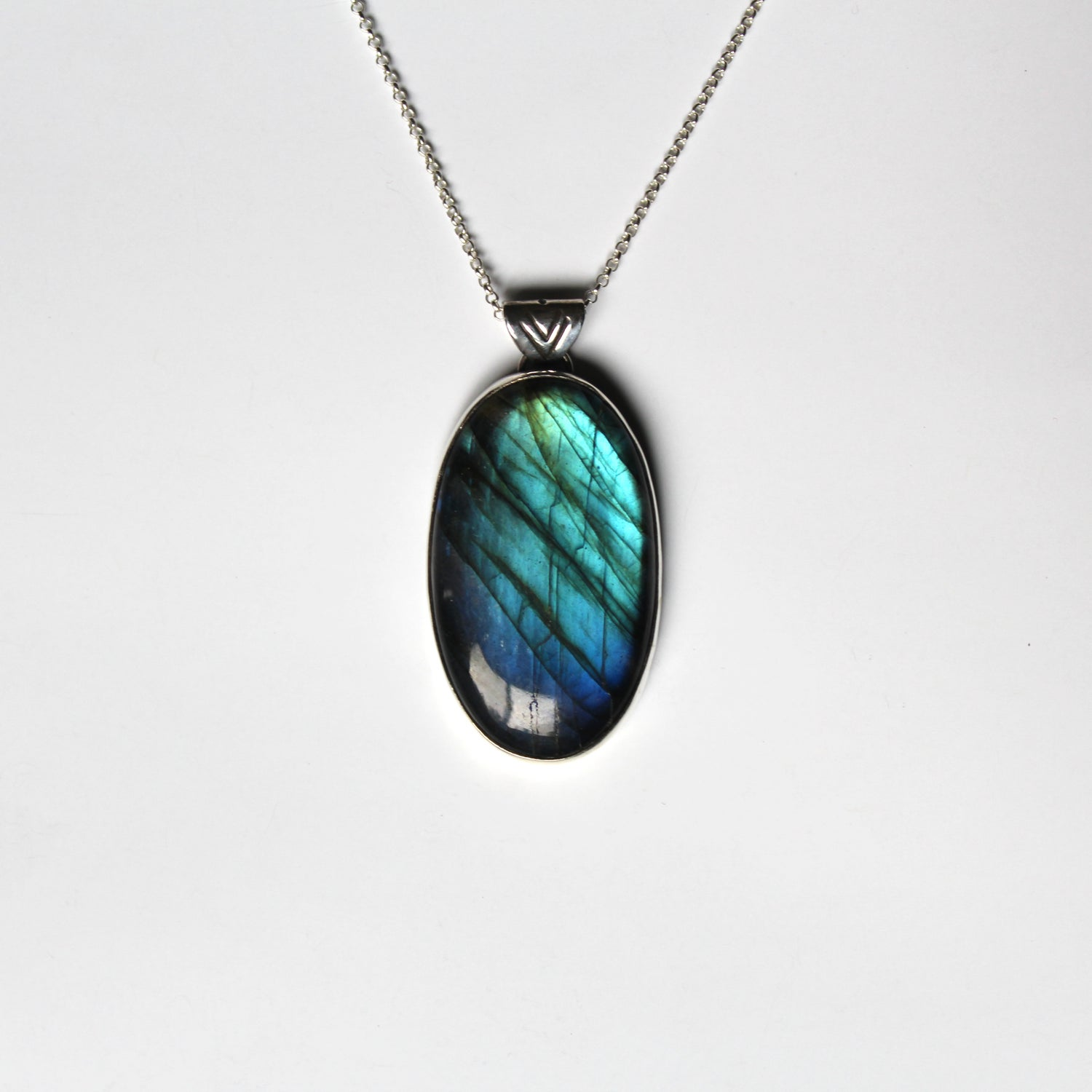 Image of Labradorite Sterling Silver Necklace