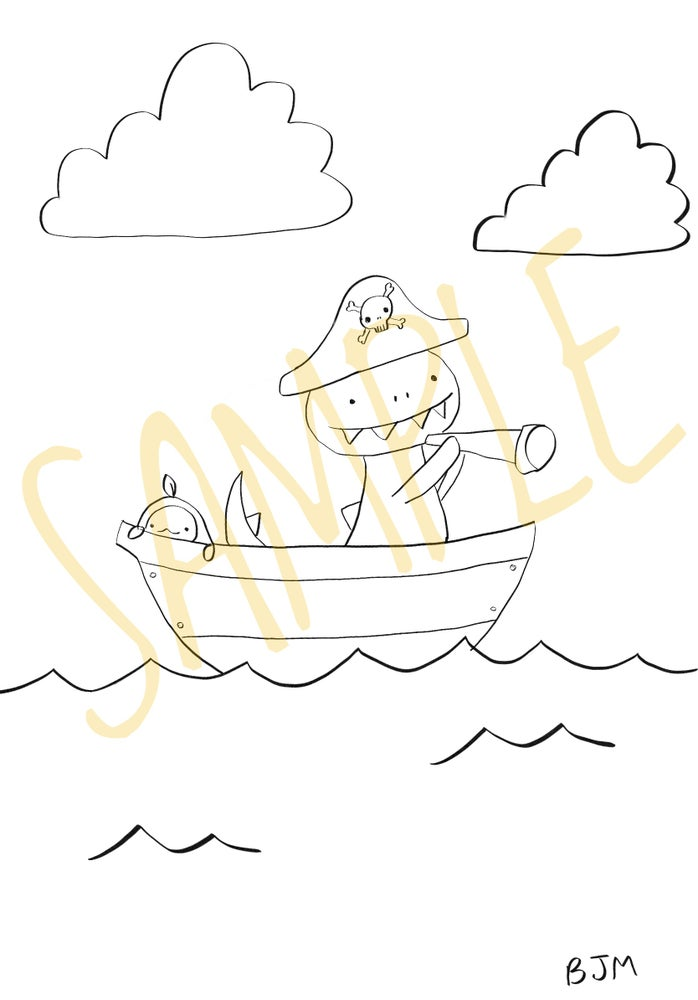 Image of A Pirates Life For Me Coloring Sheet