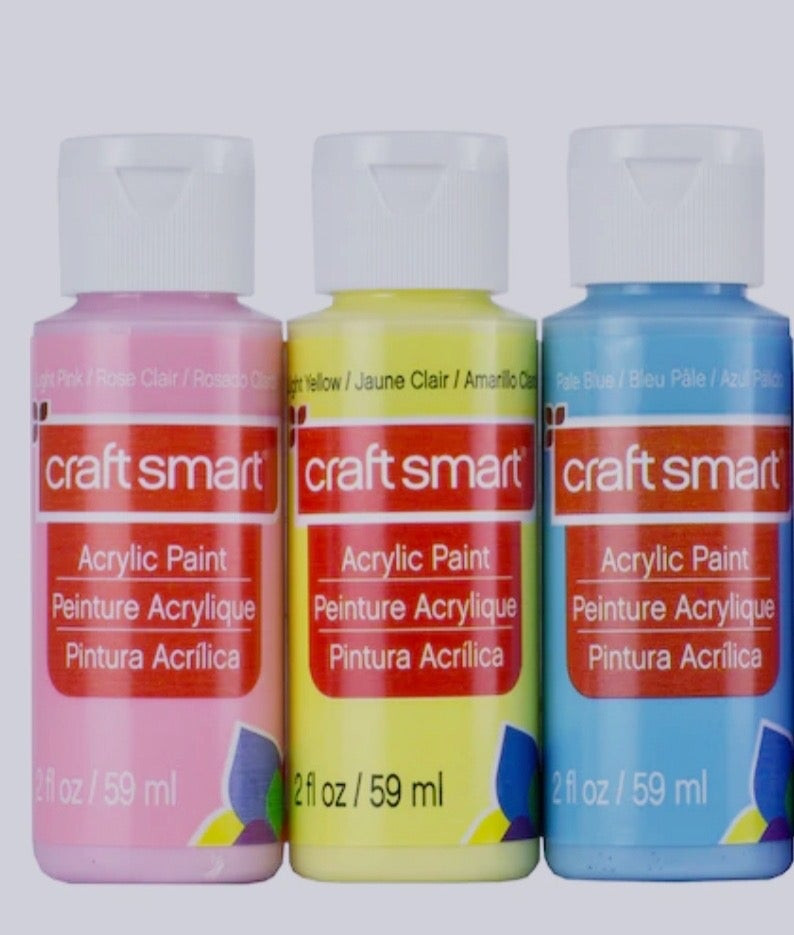 Image of Pastel Acrylic Paint & Brushes Set
