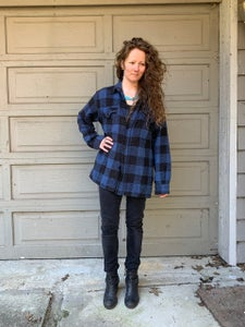 Image of Big Valley Plaid blue + black