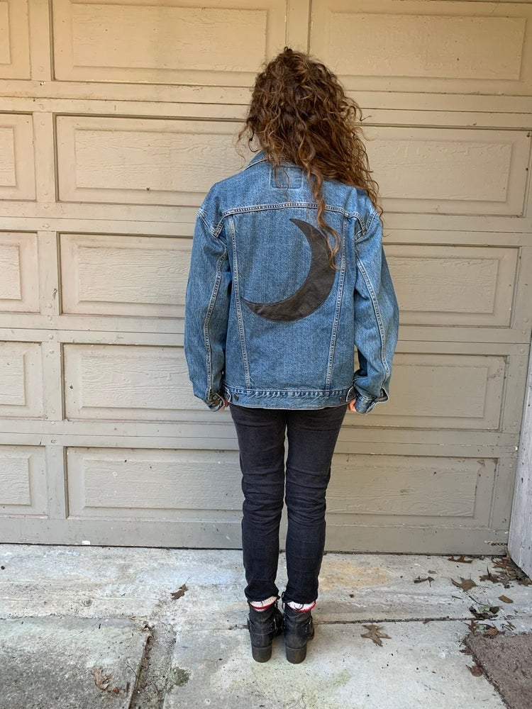 Image of Levi's Denim with Leather Moon Patch
