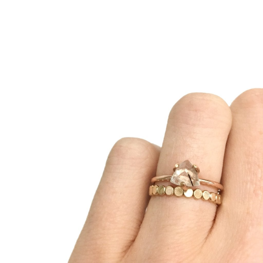 Image of Gold Coin Stacker Ring