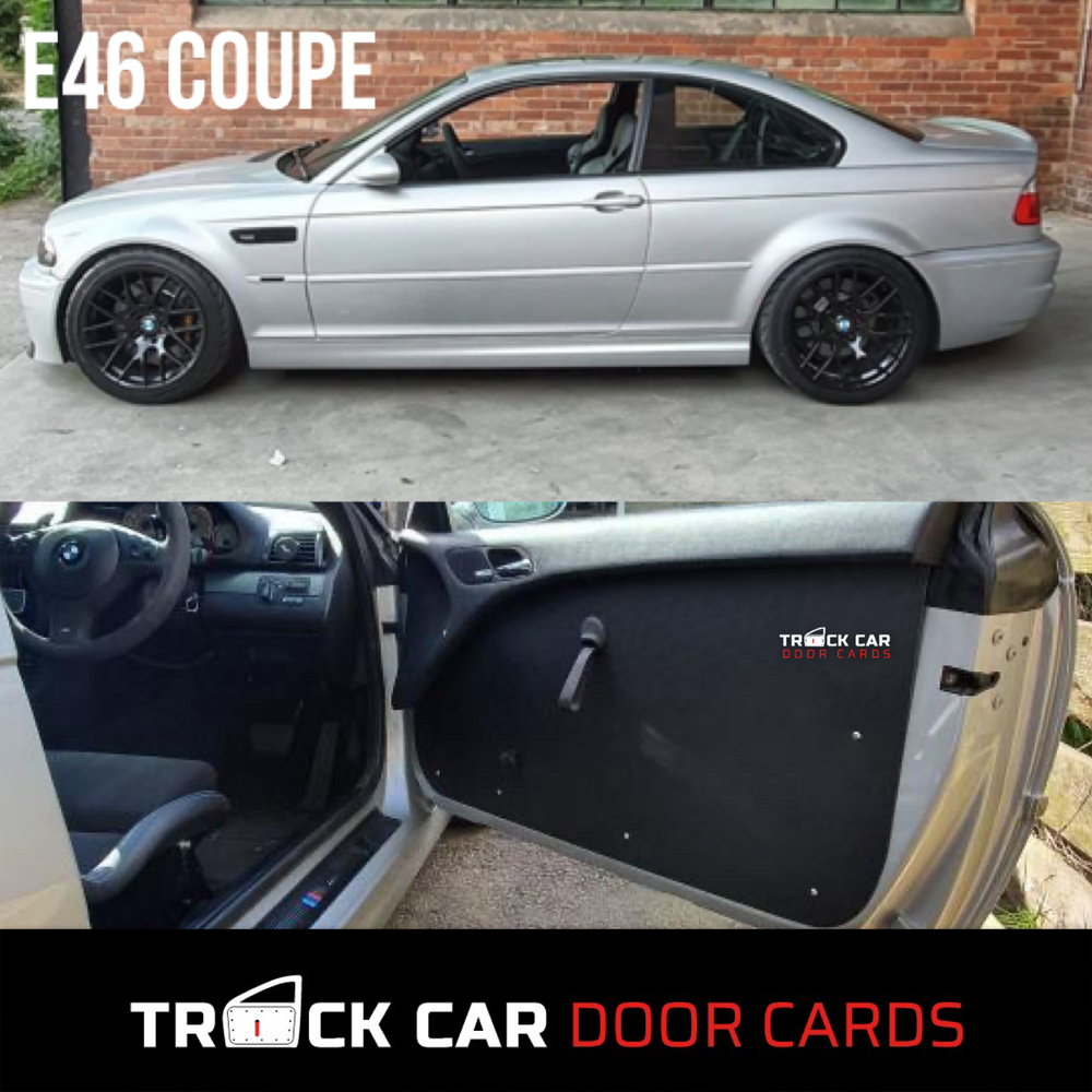 Image of BMW e46 Coupe - Using part of original door card - Track Car Door Cards