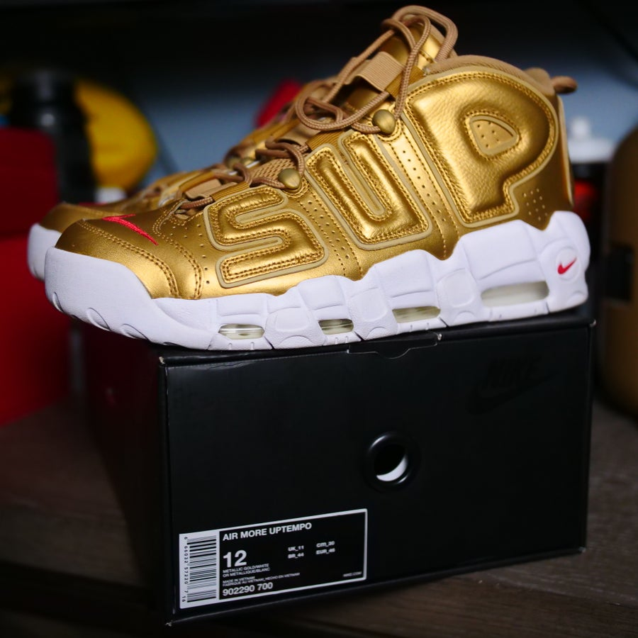 Image of Supreme Air More Uptempo Gold