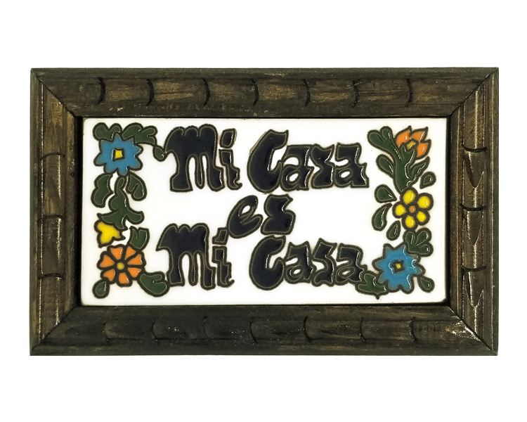 Image of Mi Casa Es Mi Casa Rectangle Wood Frame