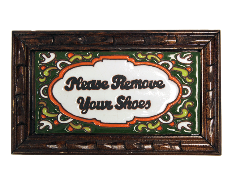 Image of Remove Your Shoes Rectangle Wood Frame