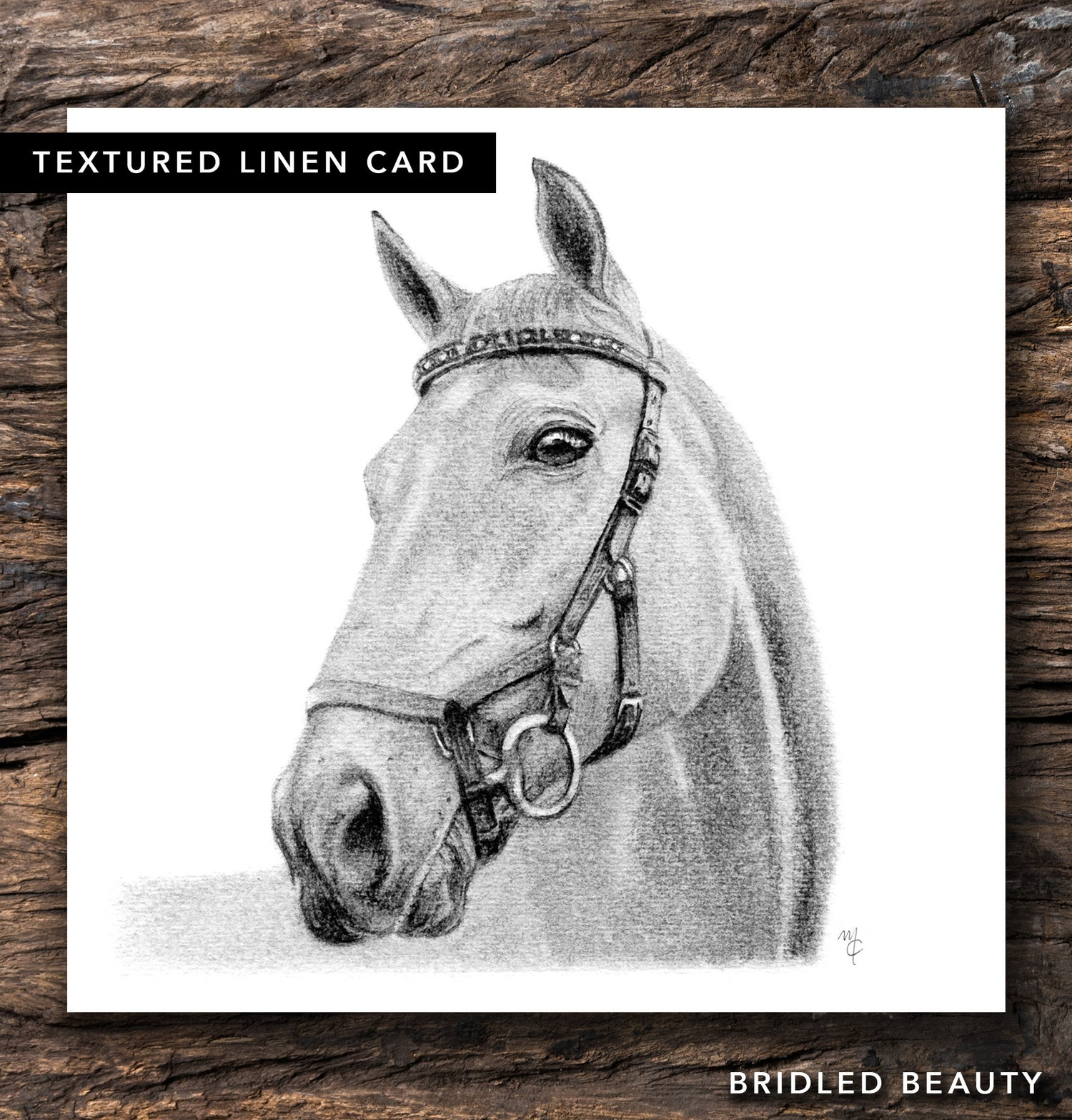 Image of Bridled Beauty Greeting Card