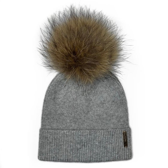 Image of Grey Angora Beanie