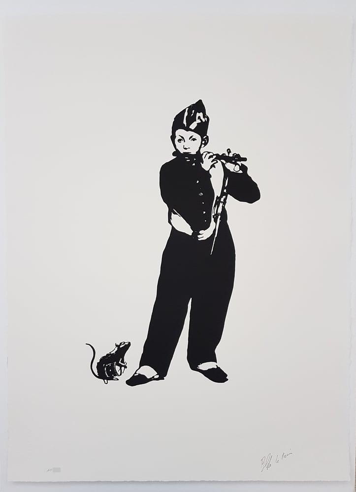 "Image of BLEK LE RAT - THE PIEDPIPER ""LE FIFRE"" - LTD ED SCREENPRINT - ARTIST PROOF - 56CM X 76CM"