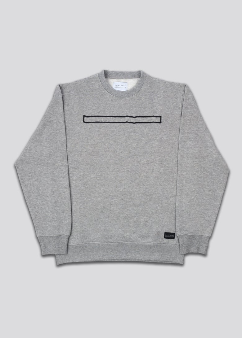 Image of Operator embroidered crewneck grey
