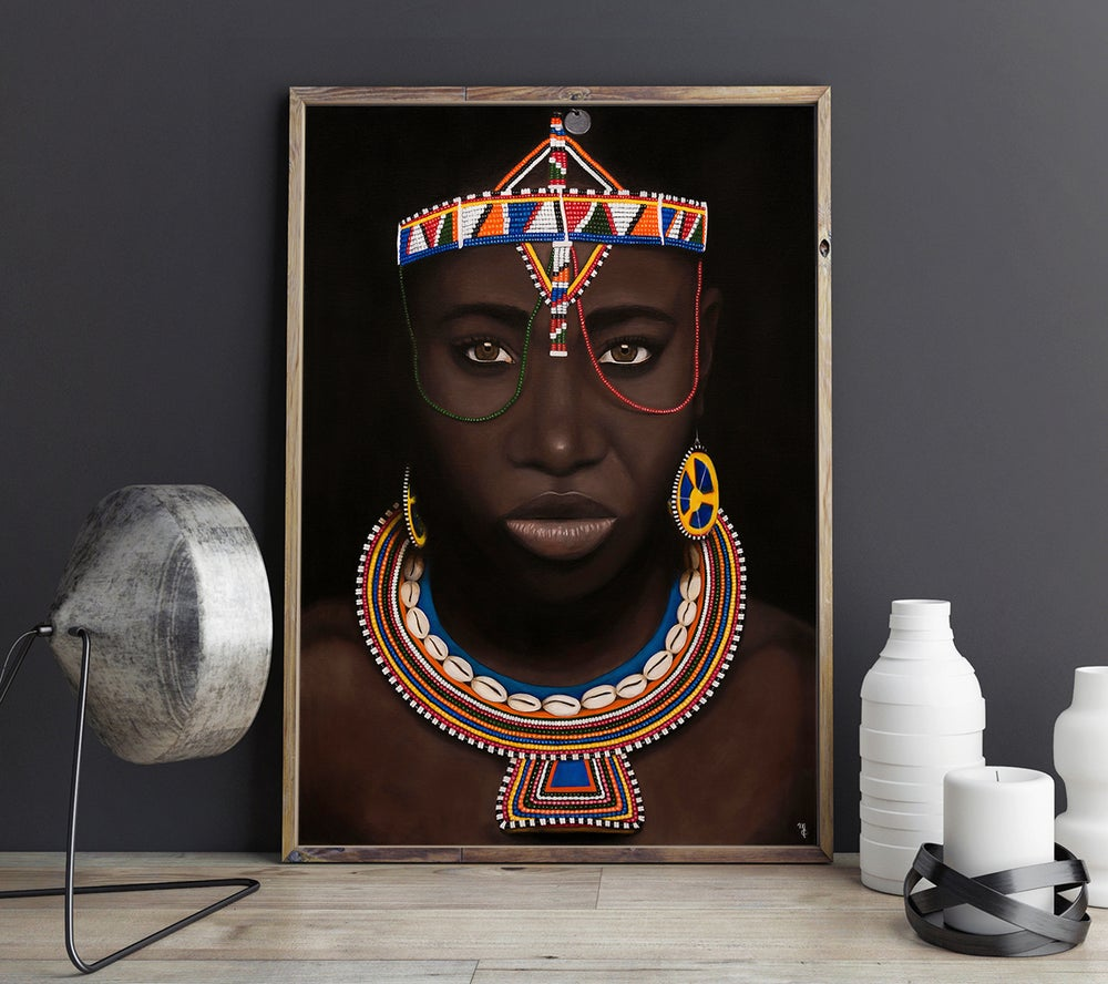 "Image of ""Maasai Woman"" Art Print"