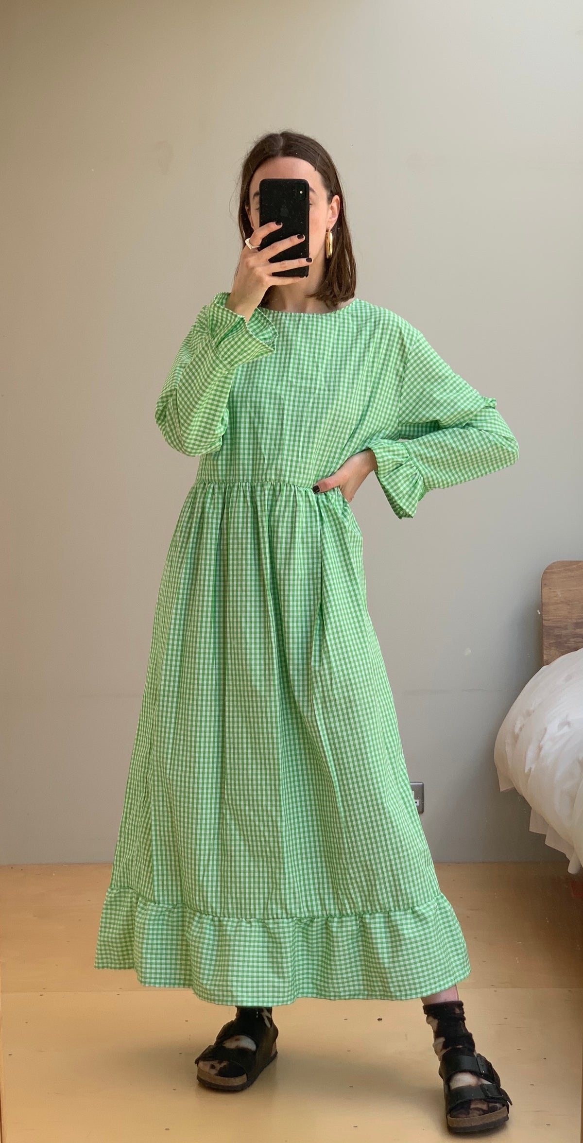 Image of GREEN TIER DRESS