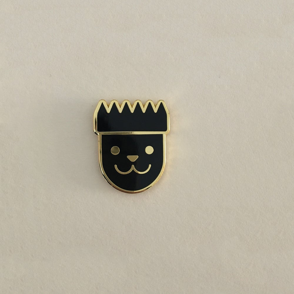 "Image of Pins ""Chat le roi"""