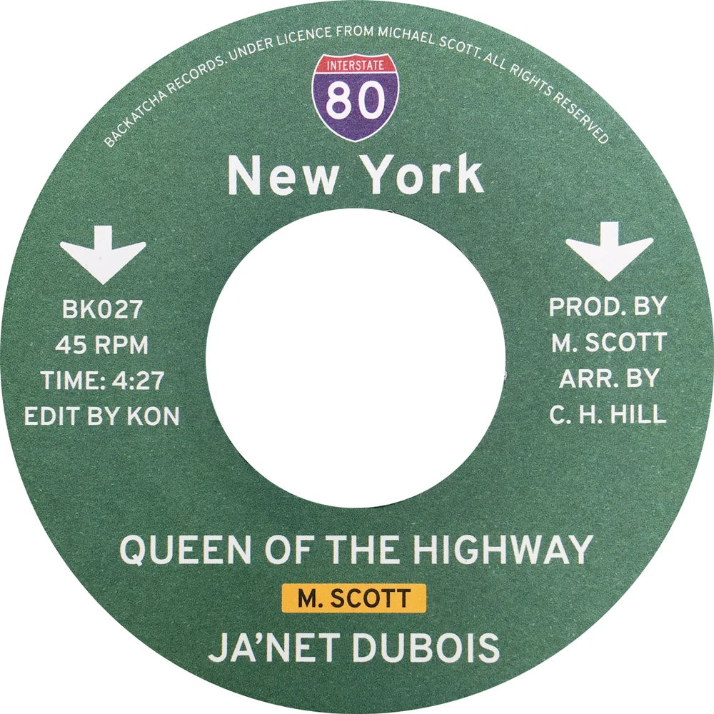 "Image of Jady Kurrent/Ja'Net Dubois - Queen Of The Highway (Kon Edit) - 7"" (BACKATCHA)"
