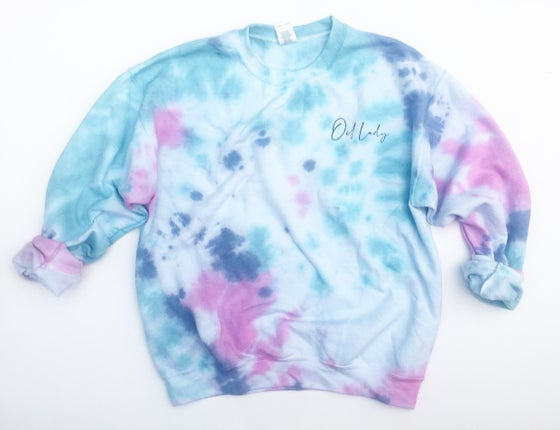 Image of OIL LADY TIE DYED PULLOVER