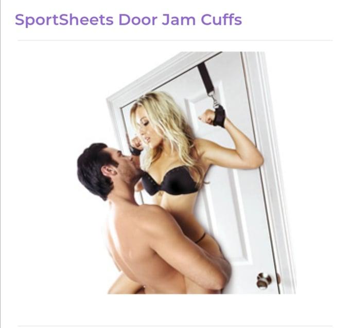 Image of SportSheets Door Jam Cuffs