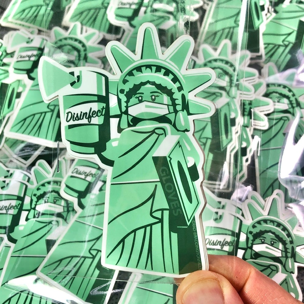 Liberty & Disinfectant Stickers - 4 pack