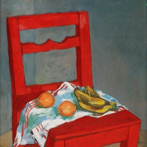 Image of 1953, Painting, 'The Red Chair', JÖRGEN ZETTERQUIST