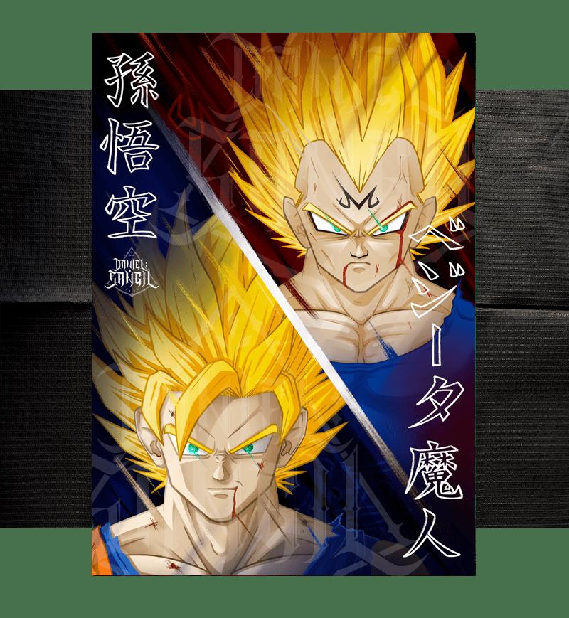 Goku SS VS Majin Vegeta