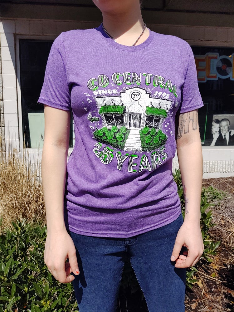 Image of CD Central 25th Anniversary Tee (Purple)