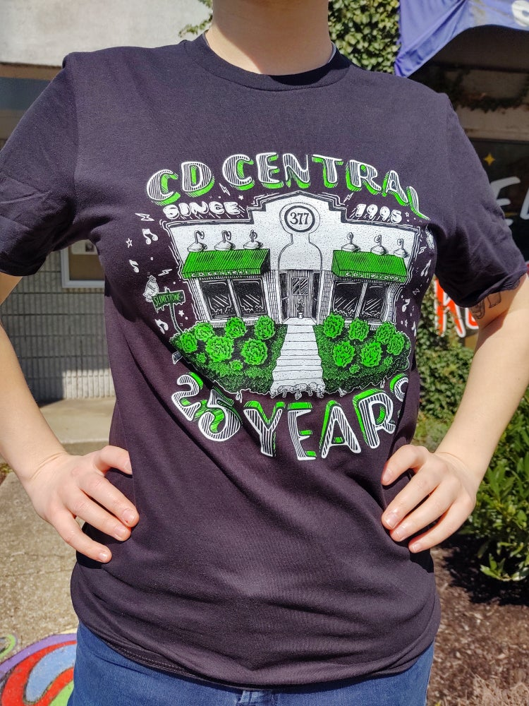 Image of  CD Central 25th Anniversary Tee (Black)