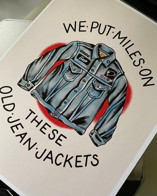 """Image of """"Old Jean jacket"""" 8.5x11 inch print"""