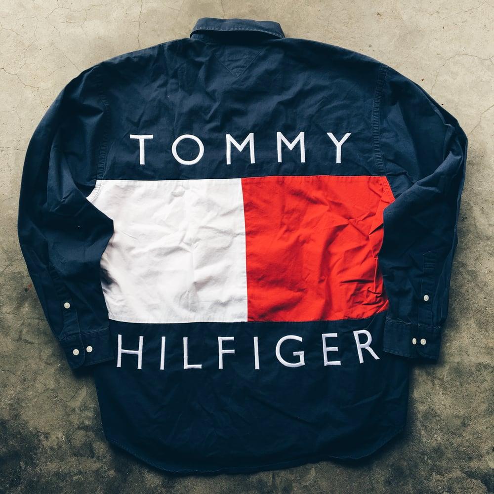 Image of Original 90's Tommy Hilfiger Big Flag Button-Up.