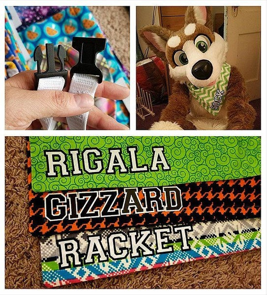 Image of CUSTOM ZIPPERED POCKET Fursuit Bandanna | READ DESC