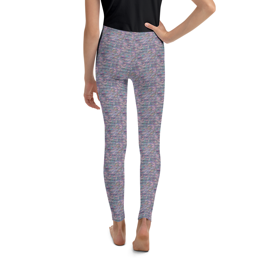 Image of Girl's Mermaid Sequin Yoga Pants