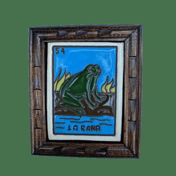 Image of La Rana Loteria Wooden Frame