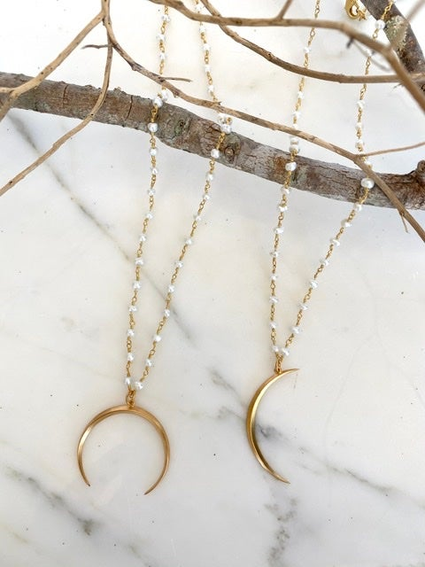 Modern Moon Necklace