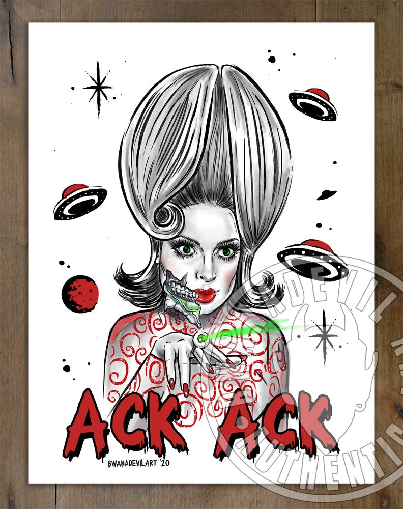 Image of The Martian Girl (Mars Attacks!) Art Print 9 x 12