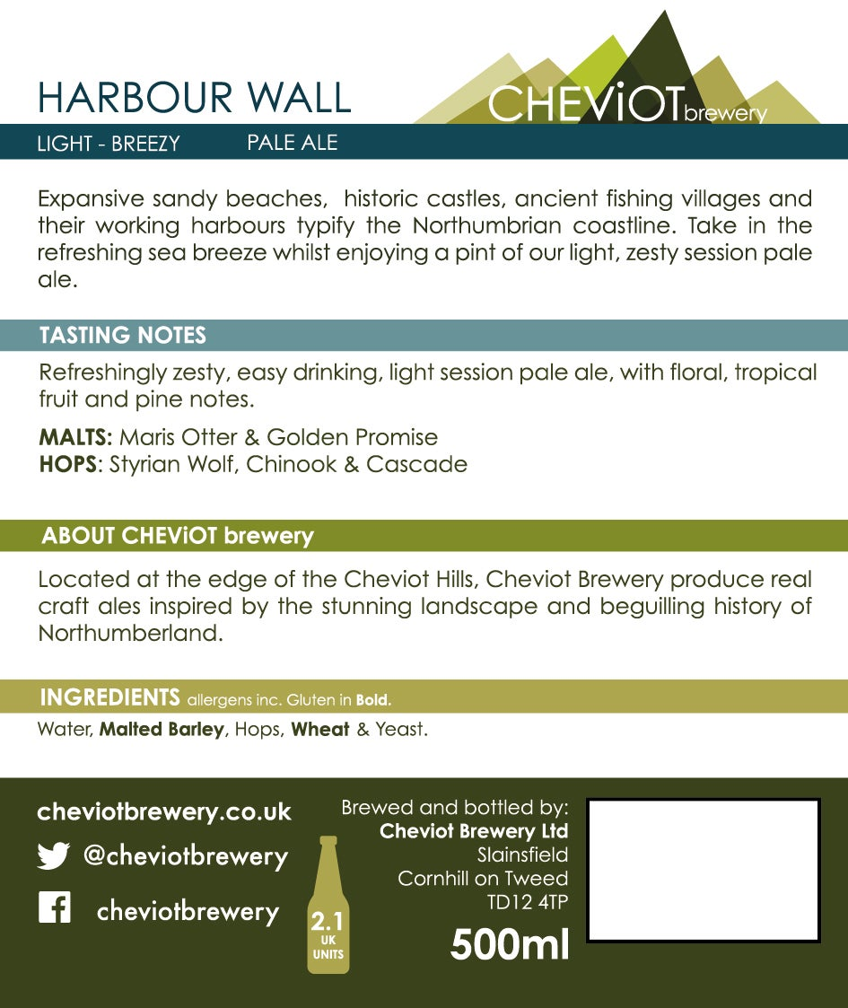 Image of 6X HARBOUR WALL - 500ML BOTTLE (4.2%) PALE ALE