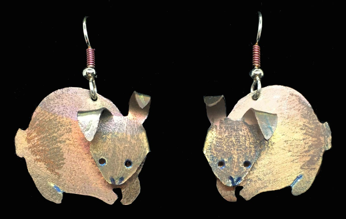 Image of Titanium Bunny Earrings