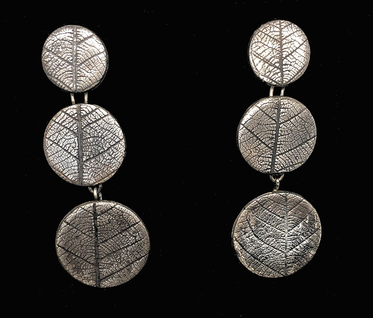 Image of Leaf-pattern Convertible Earrings