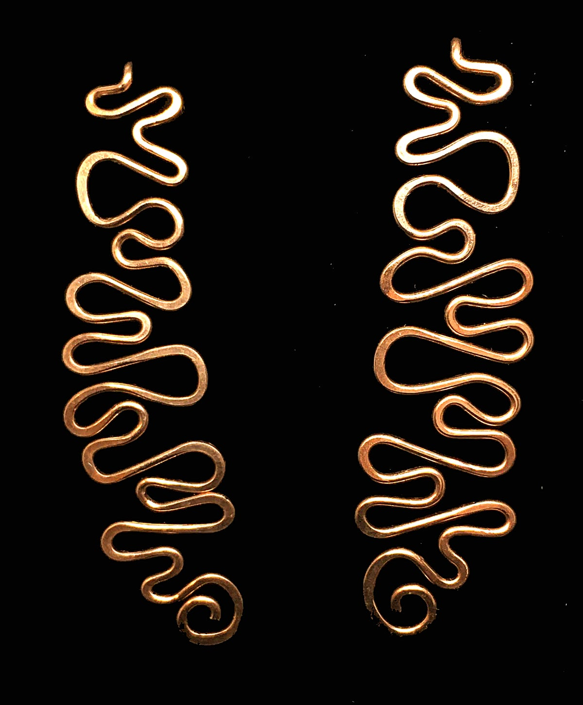 Image of Squiggle Earrings in Yellow Gold-Filled